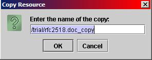 Copy Resource Dialog