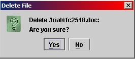 File Delete Confirmation Dialog